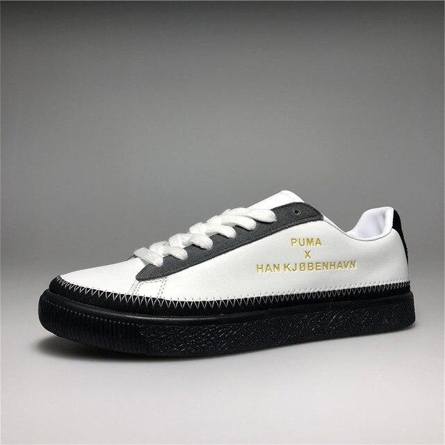 Puma shoes PUMA x Han Copenhagen Co-branded couples shoes white black and  white brown size36-44 d81c56a44