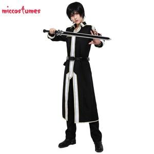 Image 2 - Sword Art disfraz para Cosplay de Kirito para hombre, uniforme de Halloween