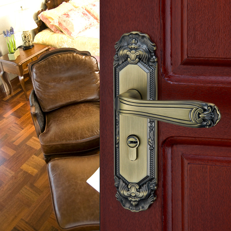 2018 Hot Sale Epe Continental Interior Locking Metal Security Door Handle Lock Green Bronze Locks The Of Bedroom European Hand стоимость