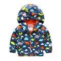 Chaqueta de los niños para el muchacho lleno de impresión pequeños dinosaurios muchachos chaqueta nueva chaqueta de primavera niños niños ropa