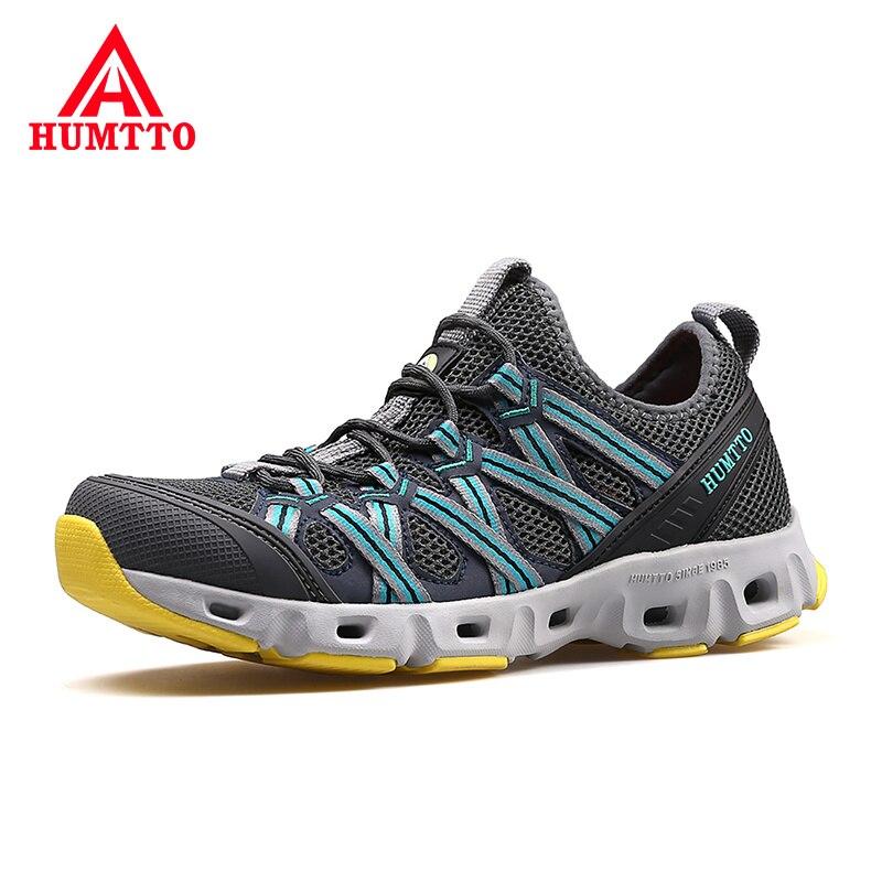 Été respirant imperméable chaussures pour hommes en plein air professionnel antidérapant Designers baskets léger à lacets homme maille chaussures décontractées
