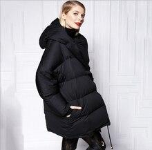 2015 Европа Зима Последней Моде Женщины Пальто Чистый цвет Досуг пуховик Супер Теплый пуховик Пальто 95% утка G0484