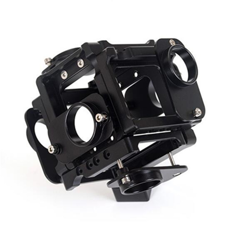 Aluminium Panorama Bracket for Go Pro 360/720 Degree Aerial FPV Panoramic Video Recorder Cage for GoPro Hero 4 3 3+