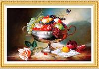 New Diamond Embroidery 5D Fruit Plate Diamond Cross Stitch Round Drill Unfinished Diamond Painting