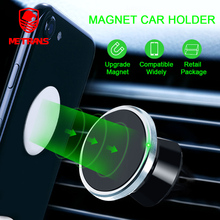 Metrans Magnetic Car Phone Holder 360 Degree Rotation Air Vent Mount Mobile Stand For iPhone Samsung telefon tutucu