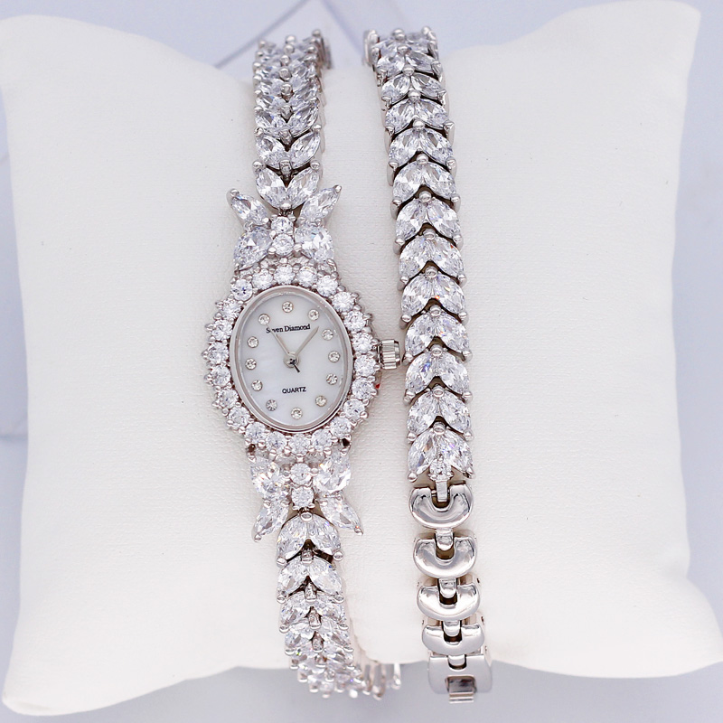 Women s Watch Jewelry Japan Quartz Hours Clock Best Fashion Dress Twining Bracelet Shell Luxury Rhinestones