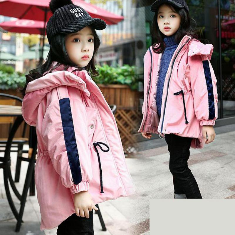Girls Winter Coats Kids Down Jacket Outerwear Thick Warm Girls Down Coat Wadded Jacket Girls Cotton Coat Christmas Gift 12 13 14 russia winter boys girls down jacket boy girl warm thick duck down