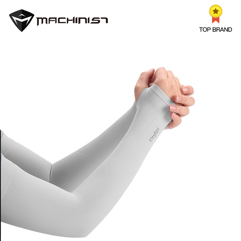 1pair Summer Thin Long Sleeve Ice Silk Gloves Women Ice Cuff Sun Arm Protection Female Hand Sleeve Arm Male UV Block