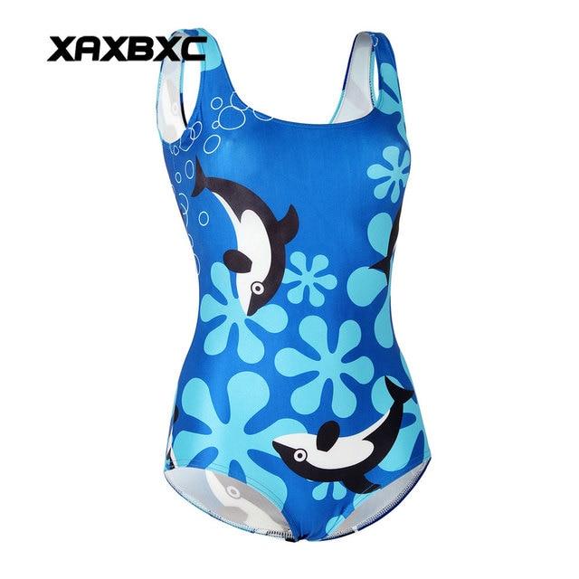 9fccf050b8b XAXBXC 1193 Summer Sexy Girl Swimwear Bodysuit Ocean Shark Whale Dolphin 3D Prints  One Piece Women Swimsuit Sport Bathing Suit