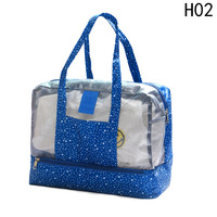 Wet And Dry Separation Travel Clothes Storage Bag Waterproof Wash Bag Beach Swimming Handbag Organizer For Men And Women