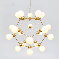 Nordic Modern Magic Beans DNA Lustres Pendant Light Industrial Modo Lamps Nordic Art Deco Glass Ball