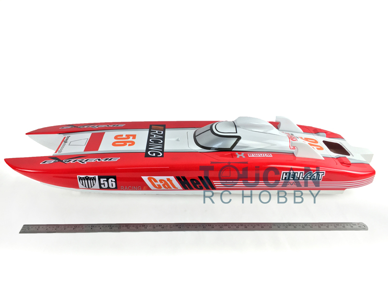 Hell Cat G30E Catamaran Fiber Glass Gas RC Racing Speed Boat Hull Only KIT Model 56Red