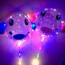 10 pcs Led Balon ışık Parti BoBo led balon domuz doğum günü parti süslemeleri çocuklar helyum balonları şişirmek için şeffaf