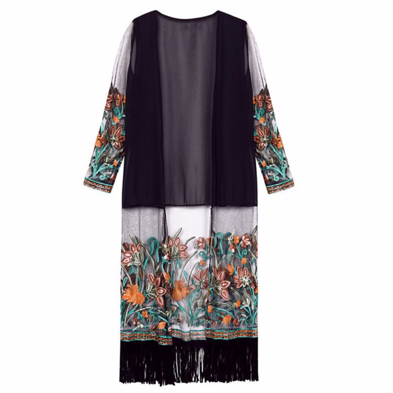 HTB1OllbJFXXXXX4aXXXq6xXFXXXE - Summer Autunm Women Vintage Boho Floral Tassel Long Cardigan