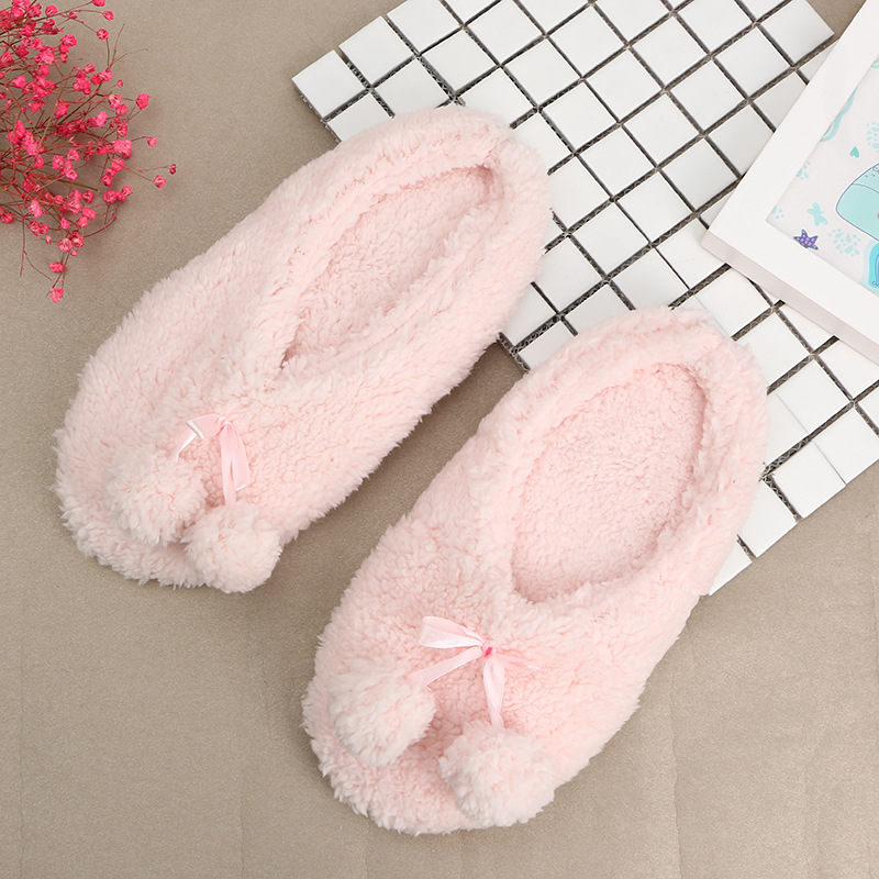 2017 Winter Women Home Slippers For Indoor Bedroom House Soft Bottom Cotton Warm Shoes Adult Guests Flats Female 2 Balls Slippe men winter soft slippers plush male home shoes indoor man warm slippers shoes