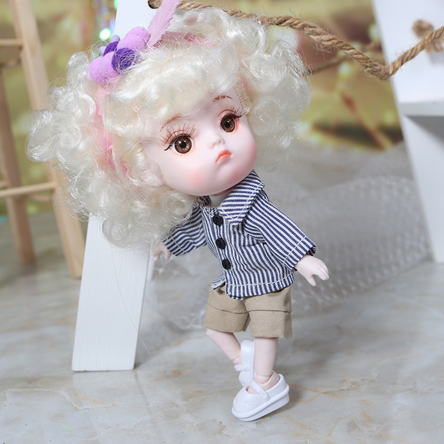 Clothes For 1/8 BJD Middle DODO ob11 doll two style suits high quality soft clothes for 20cm bjd