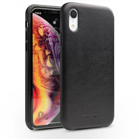 QIALINO Genuine Leather Phone Case for iPhone X XR XS Handmade Luxury Fashion Ultra Thin Back Sleeve Cover for iPhone XS MAX