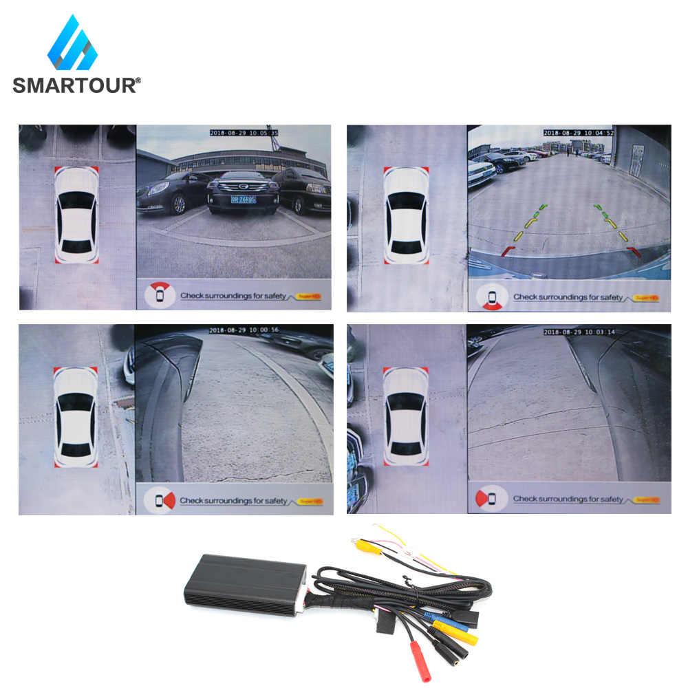 360 градусов Автомобильный панорамный обзор система Vista панорамная система DVR 4 камера HD 1080 P HD Автомобильный видеорегистратор 2D помощь при парковке