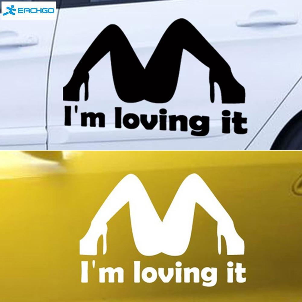 Car body sticker design eps - I M Loving It Sexy Lady Legs Spoof Funny Humor Jdm Car Window Decal Sticker