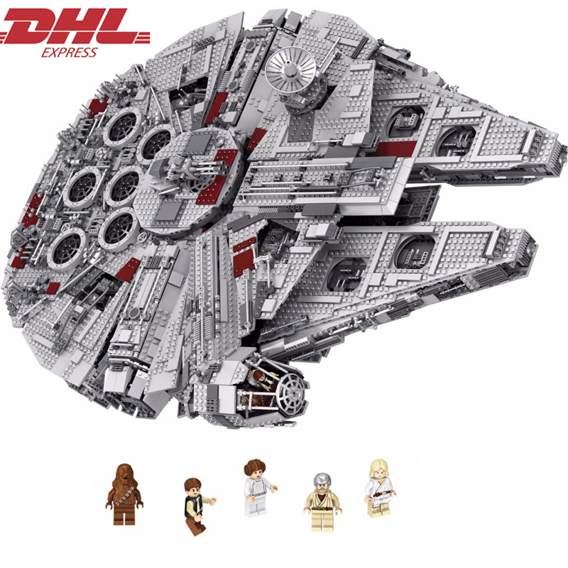 LELE Star Wars Millennium Falcon STARWARS Building Blocks Sets Bricks Classic Model Kids Toys Marvel Compatible Legoings lepin star wars millennium falcon special forces fighter starwars building blocks sets bricks classic model compatible legoings