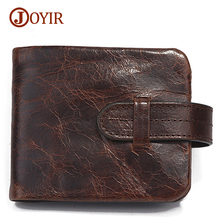 Joyir top quality new arrival real leather-based wallets customary wallets males wallets luxurious greenback worth classic male purse 519