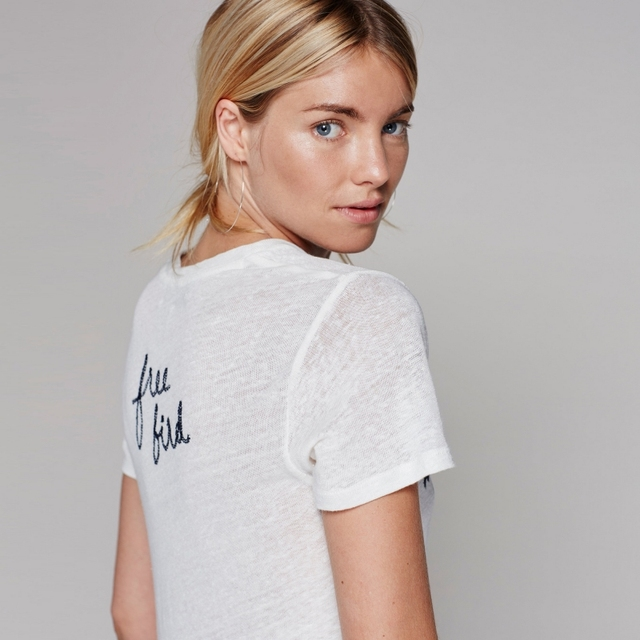 Embroidered Basic Top for Women