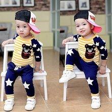 Baby Boy Clothes winter Cartoon Boy Clothing Set Long sleeves Leisure boys t shirt+ Pant 2pcs kids clothes set