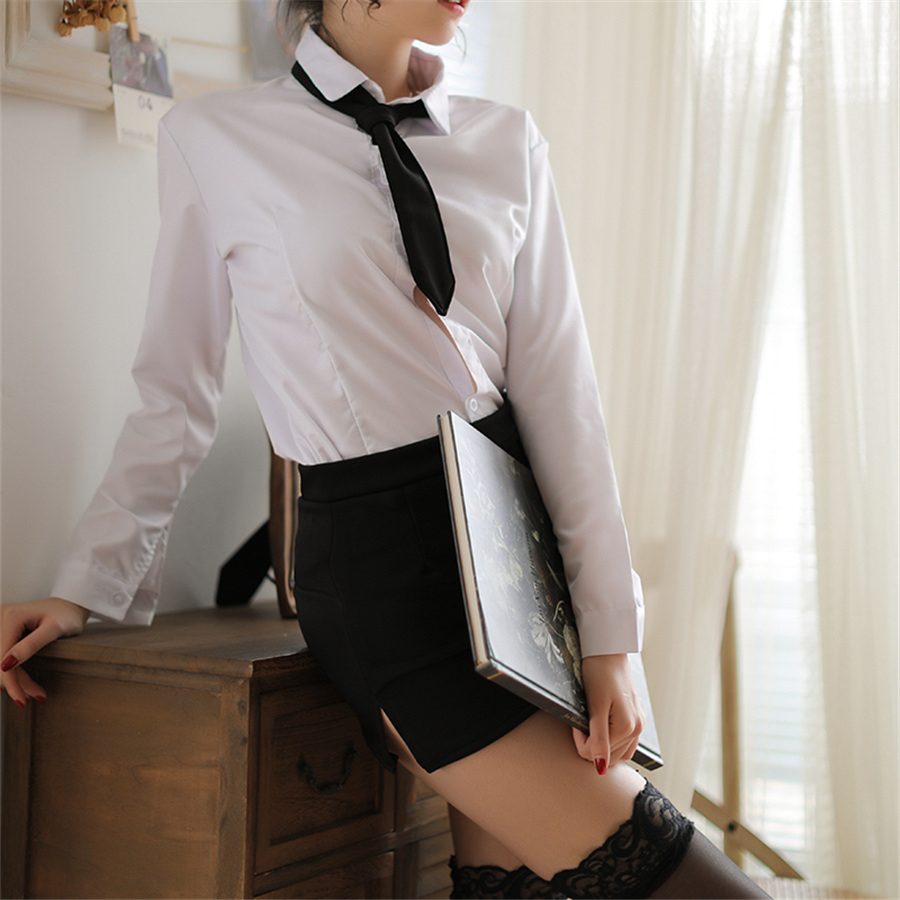 Sexy Women Lingerie Cute Sexy Female Secretary Uniform Student Uniform Nightclub Tightly Skirt Erotic Underwear Porn Costumes
