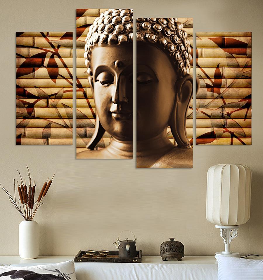 Aliexpress Com Buy 4 Panels Modern Printed Coffee Canvas: Aliexpress.com : Buy Canvas Painting Hand Painted Art