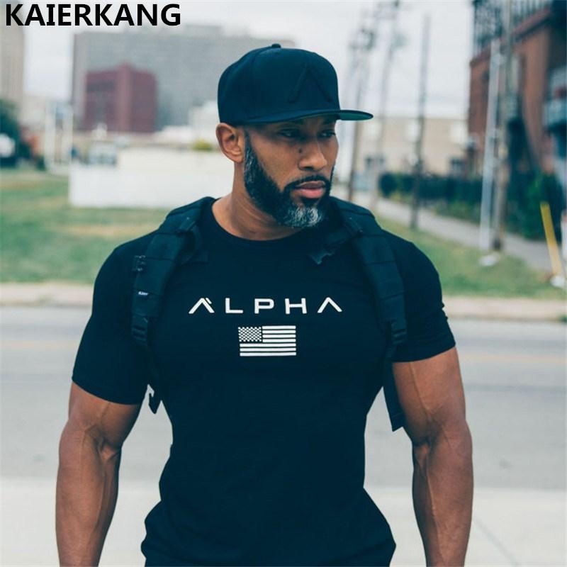 New Men Cotton Gyms Men T Shirt Fitness Bodybuilding Shirts Crossfit Male Brand Tees Short Sleeve Gyms T-shirt Men Costume