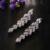 2016 Da Folha Do Vintage Brincos Longos para As Mulheres de Zircônia Brincos para Noivas Grandes Brincos de Festa brincos de festa de Casamento