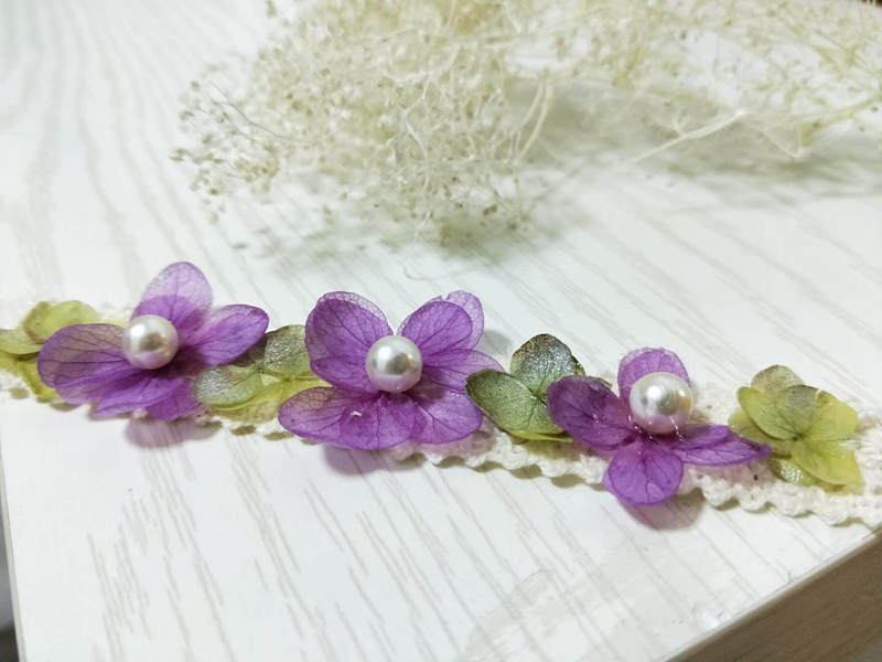 dried flower headband real flowers headwear Newborn photography props girl pearl headband for girl hair accessories headwear