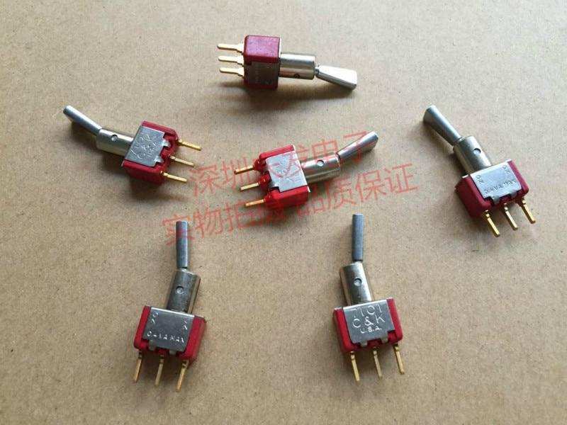 Original new 100% toggle switch 7101 3pin 2gear with bracket and without bracket rocking head rocker switch 0.4VA