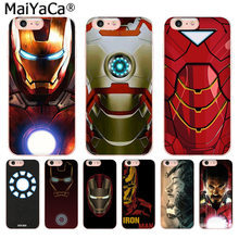 MaiYaCa Tony Stark Marvel Iron Man Luxury High-end phone Case for iphone 11 pro 8 7 66S Plus X 5S SE XR XS XS MAX(China)