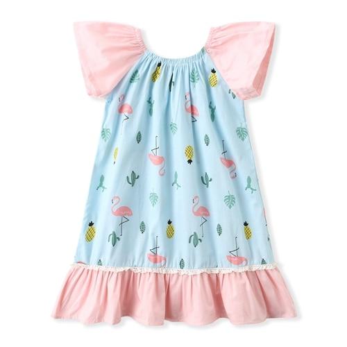 Baby Girl Pink Flamingo dress, Flamingo girls dress (8)