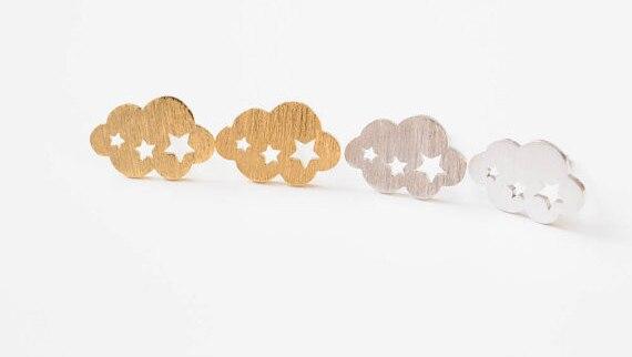 Kolczyki minimalistyczne Magic Cloud 3 kolory