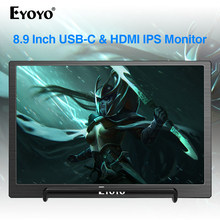Eyoyo 8,9 inch Tragbare USB C Mini Monitor 1920x1200 IPS Display w/USB C & HDMI Video Eingang kompatibel mit MAC Laptop