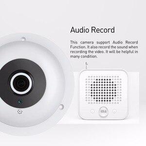 Image 3 - オーディオ魚眼レンズ FHD 1920 × 1080 1080P 2.0MP 3 アレイ Led ナイトビジョンパノラマ IP カメラセキュリティ ONVIF P2P IP CCTV カムシステム