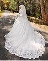 Vestido De Noiva Véu Do Vestido de Casamento Com Hijab Árabe Muçulmano Manga Longa De Luxo 2016 Noiva Do Laço vestido de Noiva gelinlik