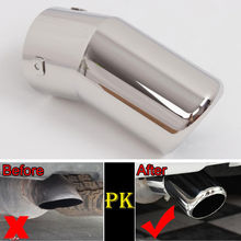 Auto Chrome 1pc Car Rear Round Exhaust End Tail Pipe Muffler Tip For Land Cruiser LC200 2008-2015 Car-styling Accessories