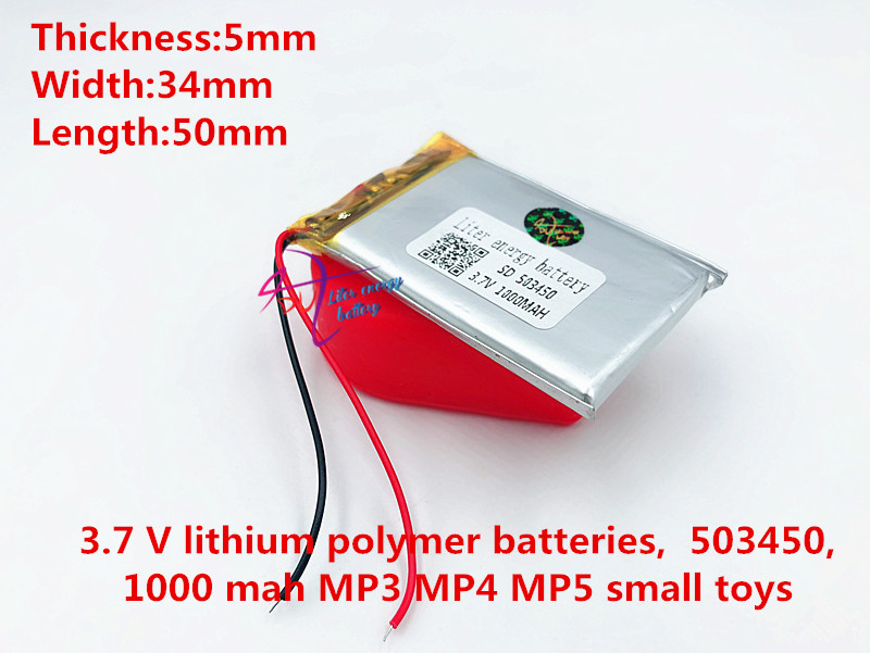 3.7V 503450 1000mah lithium-ion polymer battery  MP3 MP4 MP5 GPS navigation intelligent water meter lithium batteries3.7V 503450 1000mah lithium-ion polymer battery  MP3 MP4 MP5 GPS navigation intelligent water meter lithium batteries