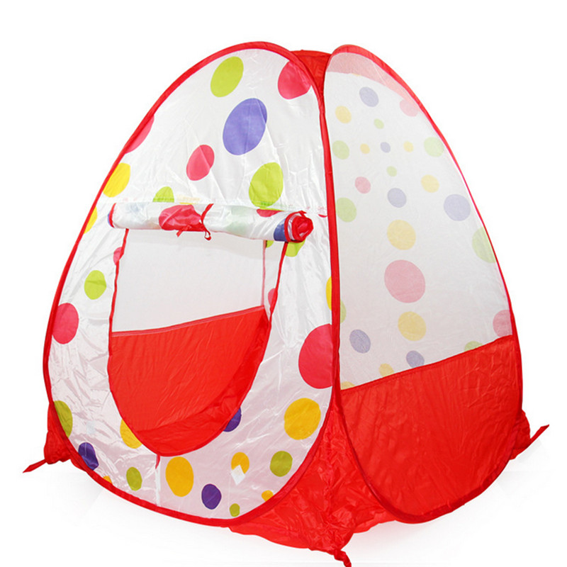 Colorful Dots Fun Children Play Tents Indoor/Outdoor Game Play House Toys Tent Birthday Gifts Safe Baby Kids Ocean Ball Pool