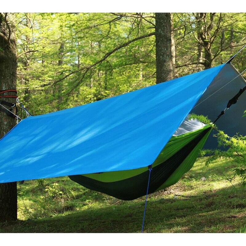 Portable Tente Matelas Tapis Tapis pour La Verrière Hamac Camping Abri Bâche 300 cm * 300 cm En Plein Air Auvent Camping Ombre couvert Gazebo