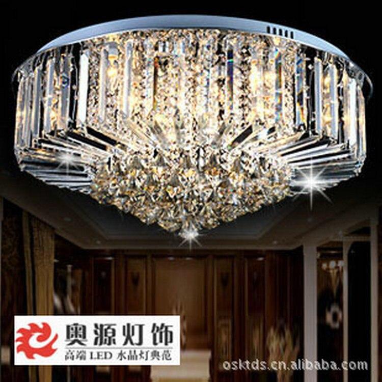 Aliexpress Buy New modern flush mount low wattage k9 crystal – Low Ceiling Chandeliers