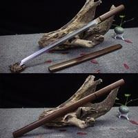 Handmade Japanese Sword Wakizashi Straight T10 Steel Clay Tempered Blade Rose Wood Shirasaya Sharpness Ready for Battle