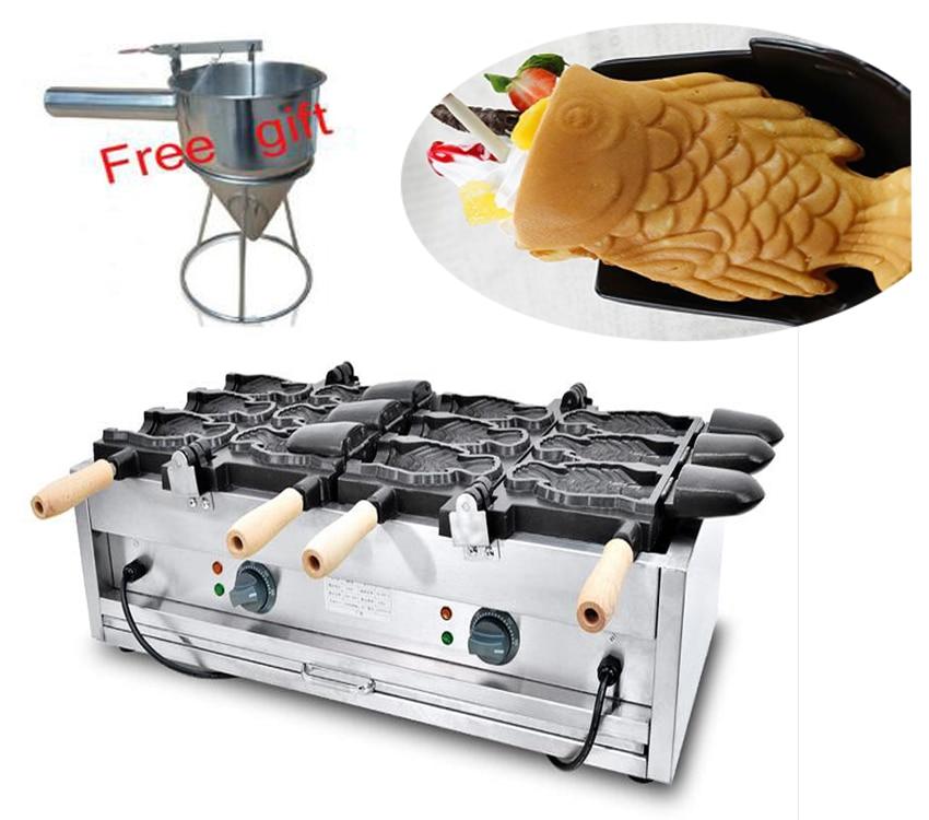 110v 220v  Electric 6 pcs Ice cream taiyaki machine Fish waffle maker110v 220v  Electric 6 pcs Ice cream taiyaki machine Fish waffle maker
