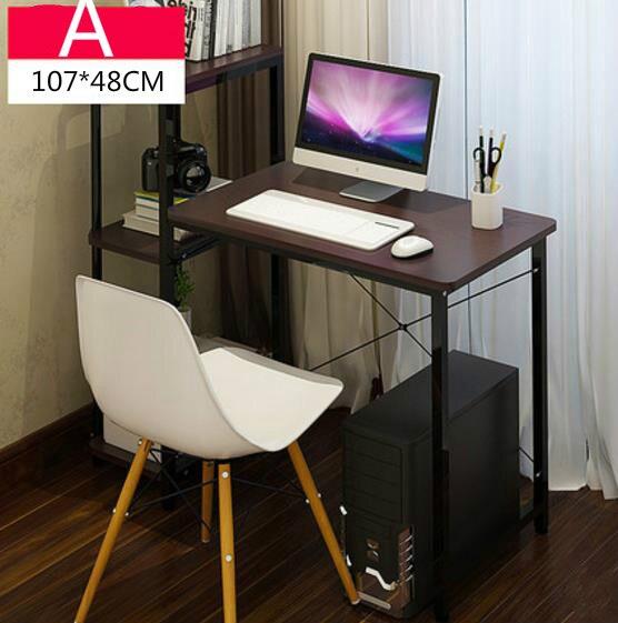 Simple desktop home computer desk with bookcase office desk 107*48*110cm simple cm 379
