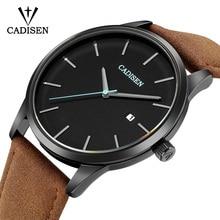 CADISEN Mens Watches Watch Men Luxury Brand Military / Sports Business Fashion Quartz Leather Relogio Masculino