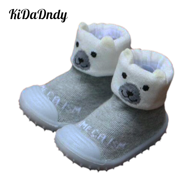 kidadndy Soft Bottom Toddler Socks With Gummi Soles Wholesale Baby Golv Strumpor Antislip Infant Toddler Shoes LMY256