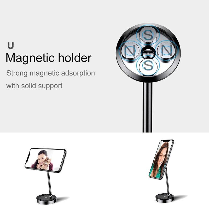 Image 2 - Baseus 卓上ホルダーは iphone サムスン xiaomi マグネット電話ホルダー 360 度机磁気サポートタブレットデスクトップホルダーholder standstand fordesktop holder -